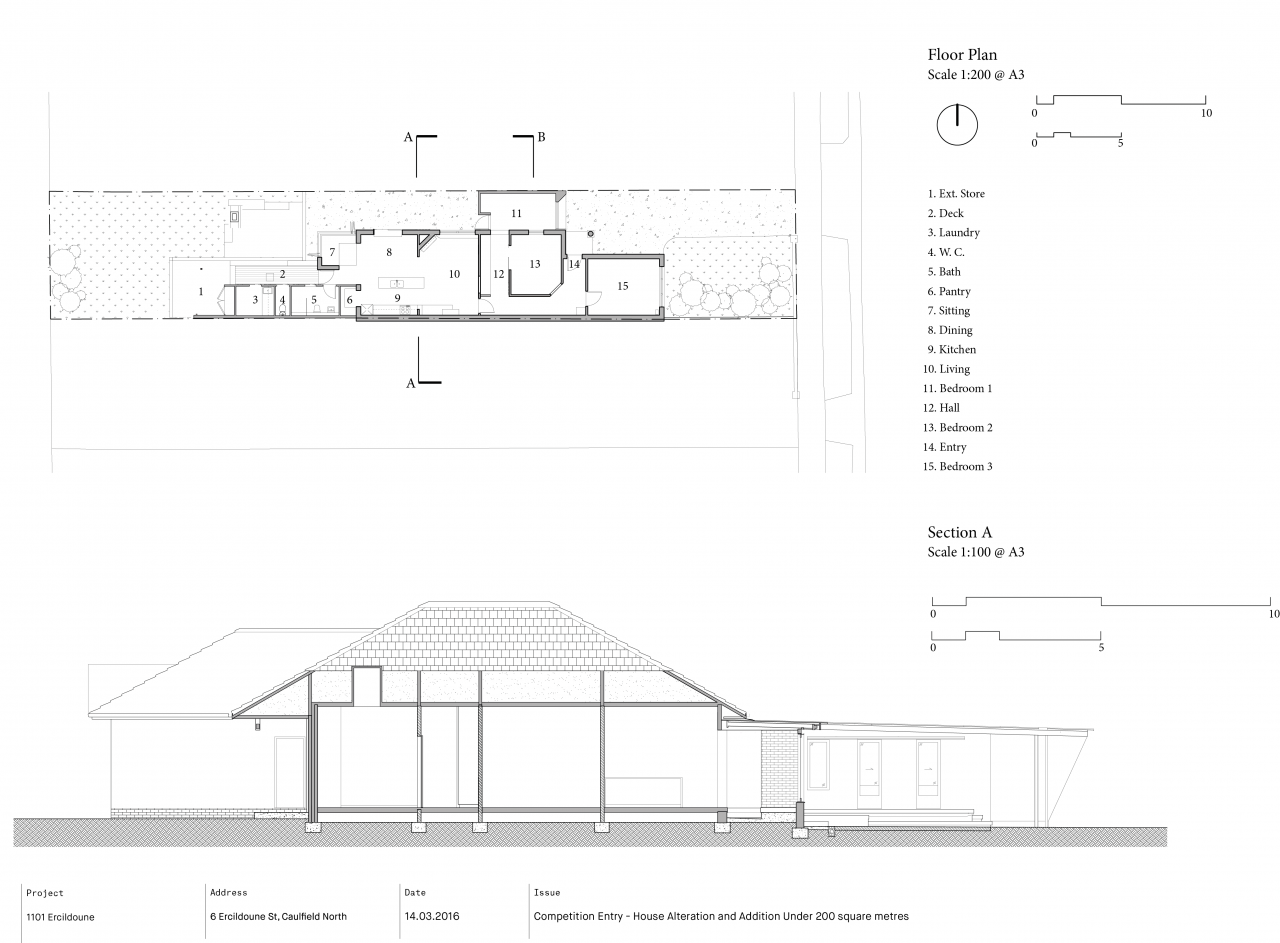 Brisbane Architect Arcke Caulfield Floorplan