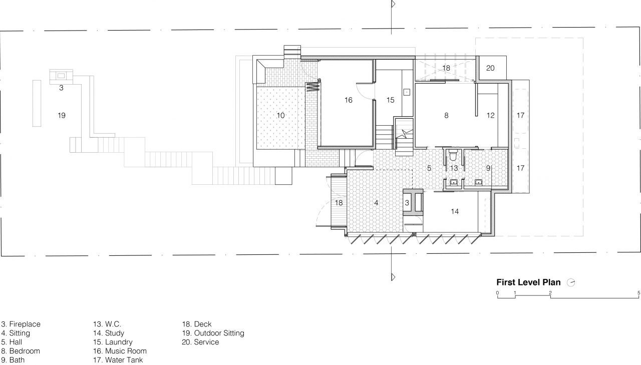 Red Hill Half Way House First Level Plan